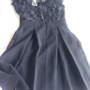 Black laced back dress